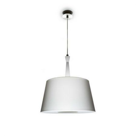 lampa wisząca baron biała